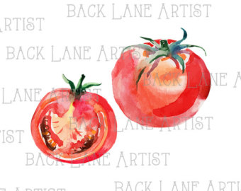 Cherry Tomato clipart veggie patch Drawing Drawing Line Watercolor Image