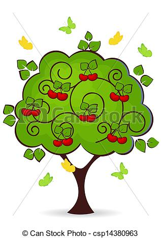 Tree clipart cherry fruit #14