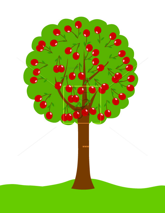 Cherry Tree clipart vector background Cherry com – –