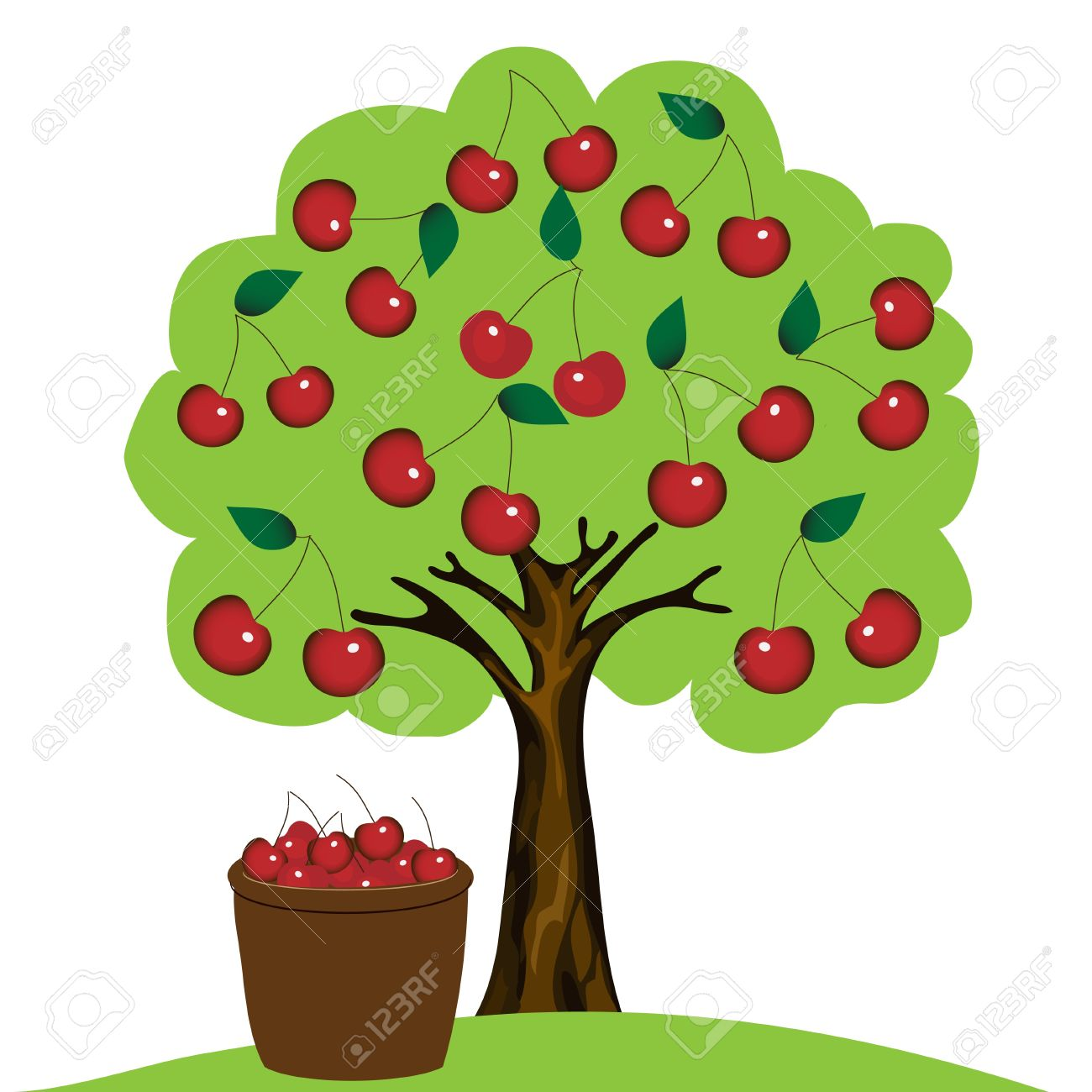 Cherry Tree clipart Collection cherry Cherry clipart Stylized
