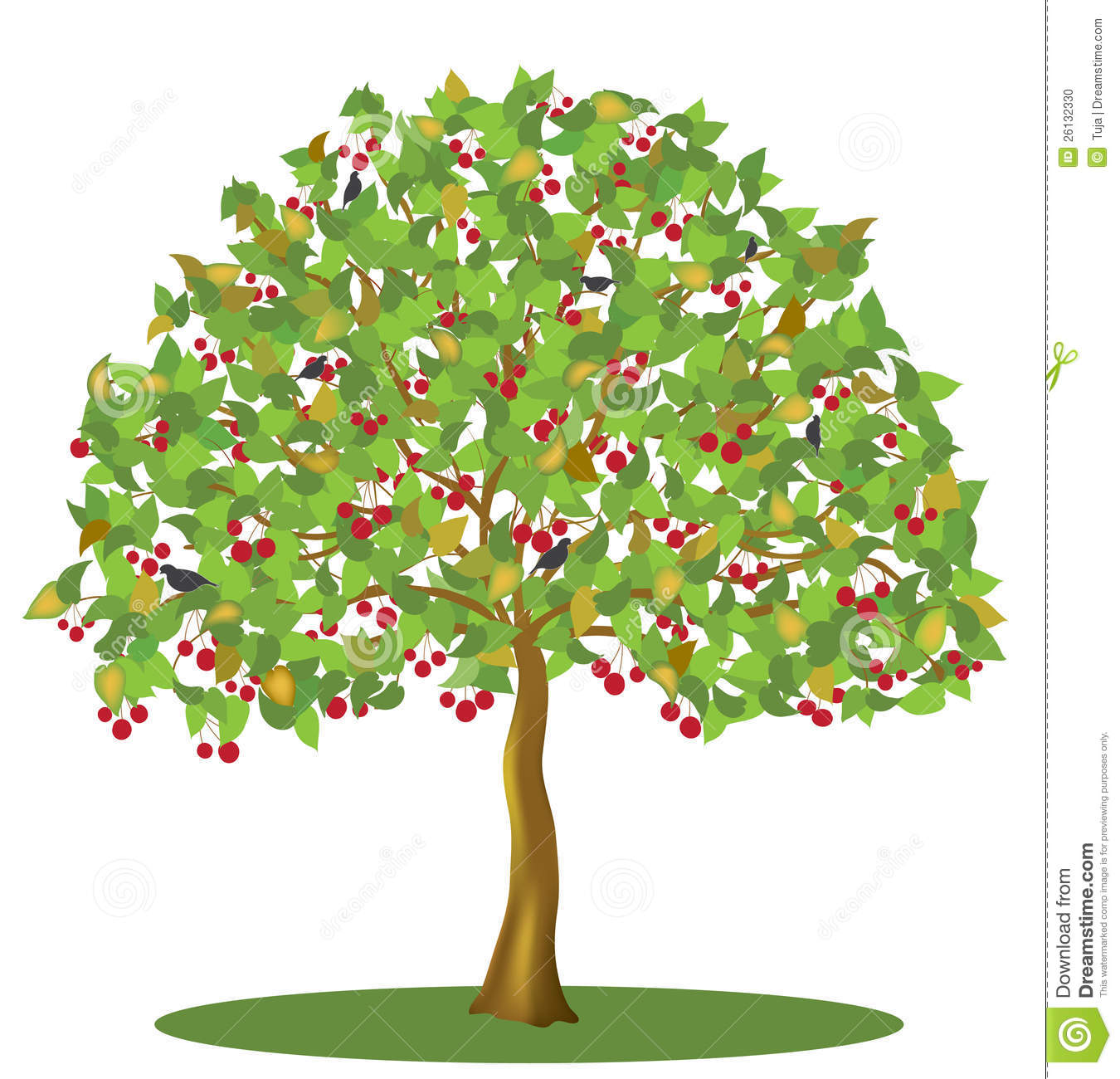 Cherry Tree clipart Collection Art Cherry clipart Stylized