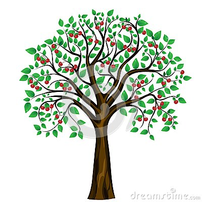Cherry Tree clipart orange tree Tree Cherry Art Clipart Clip