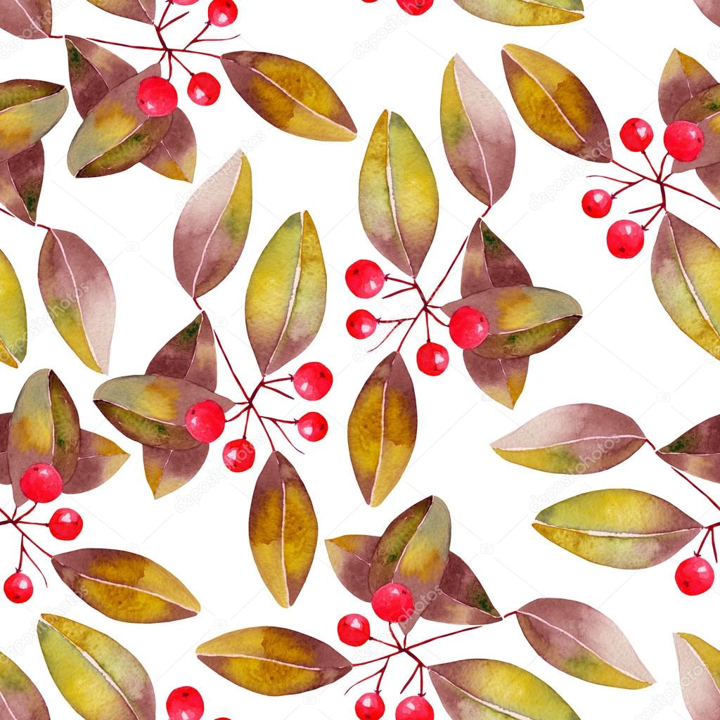 Cherry Tree clipart berry Tree leaves with berries Pattern