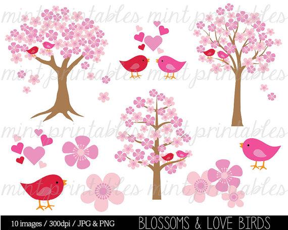 Cherry Tree clipart blossem Clipart Bird Tree Clipart Clipart