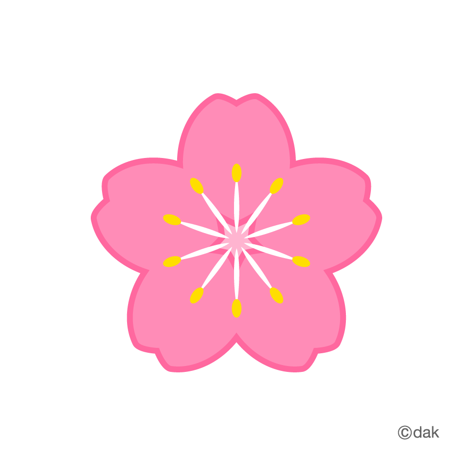 Cherry Tree clipart flowering tree Graphic symbol of Flower clipart