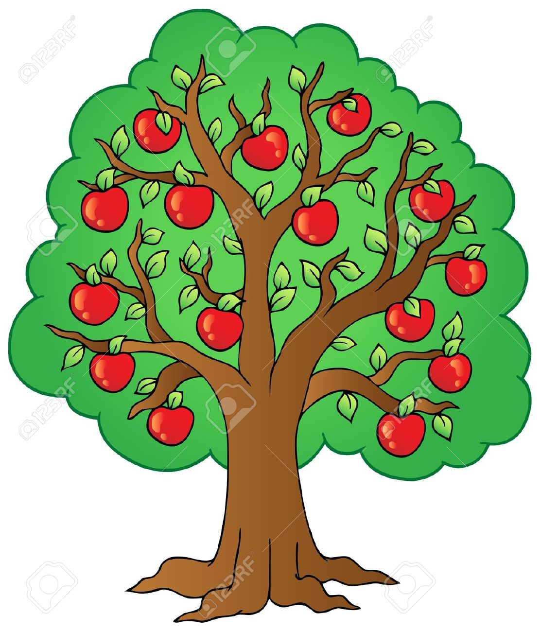 Cherry Tree clipart fruit orchard – Apple collection Orchard Clipart