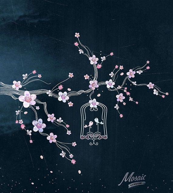 Cherry Tree clipart spring bird Spring on 25+ lettering Pinterest