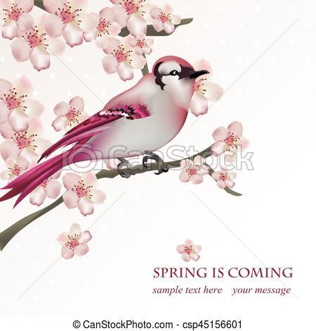 Cherry Tree clipart spring bird Bird Clipart for bird