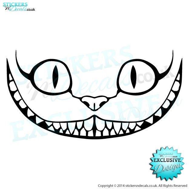 Drawn smile smirk Decal on Disney The Alice