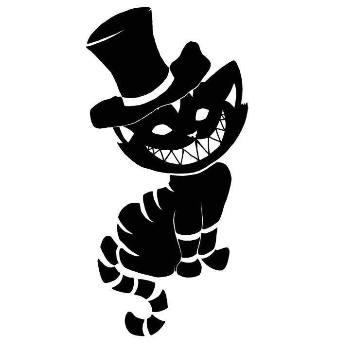 Cheshire Cat clipart gothic #6