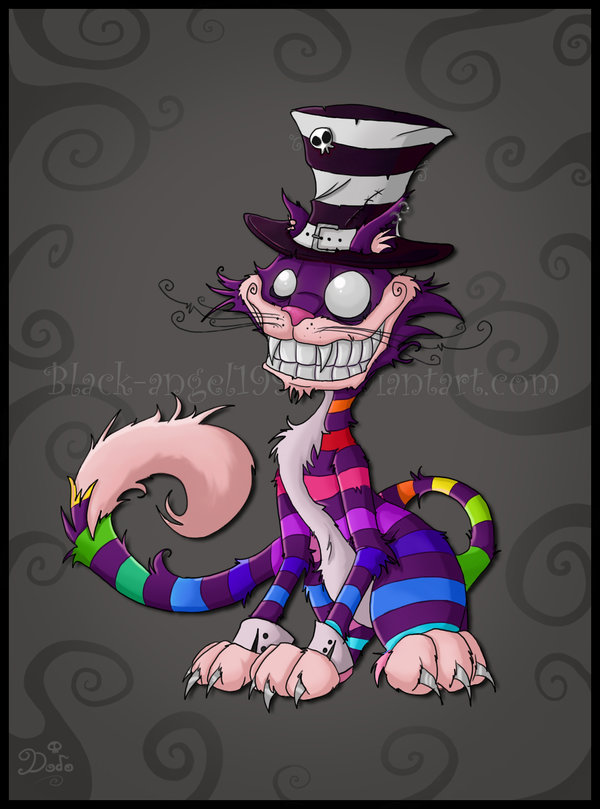 Cheshire Cat clipart gothic #3