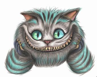 Cheshire Cat clipart gothic #2