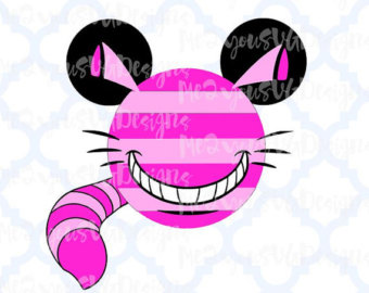 Cheshire Cat clipart head SVG Cheshire Head svg Mouse