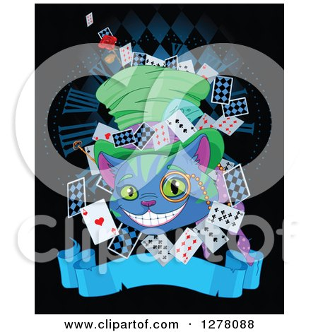 Cheshire Cat clipart head Clipart Wearing 450x470 collection Cat