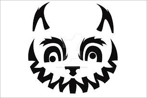 Cheshire Cat clipart pumpkin stencil #10