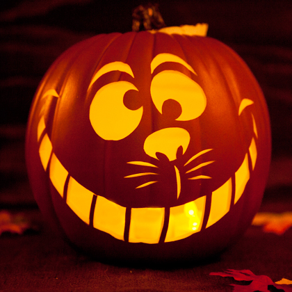 Cheshire Cat clipart pumpkin stencil Carving 2+ Players: Pumpkin Cheshire