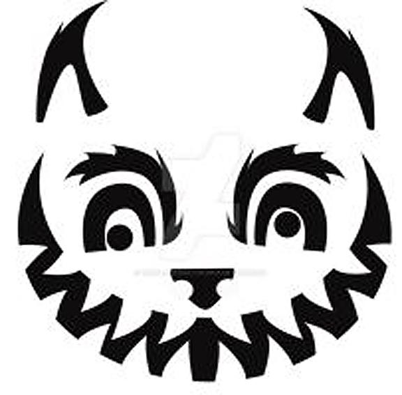Cheshire Cat clipart pumpkin stencil #5