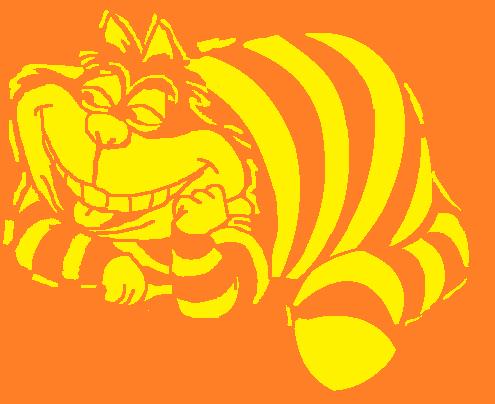 Cheshire Cat clipart pumpkin stencil #9