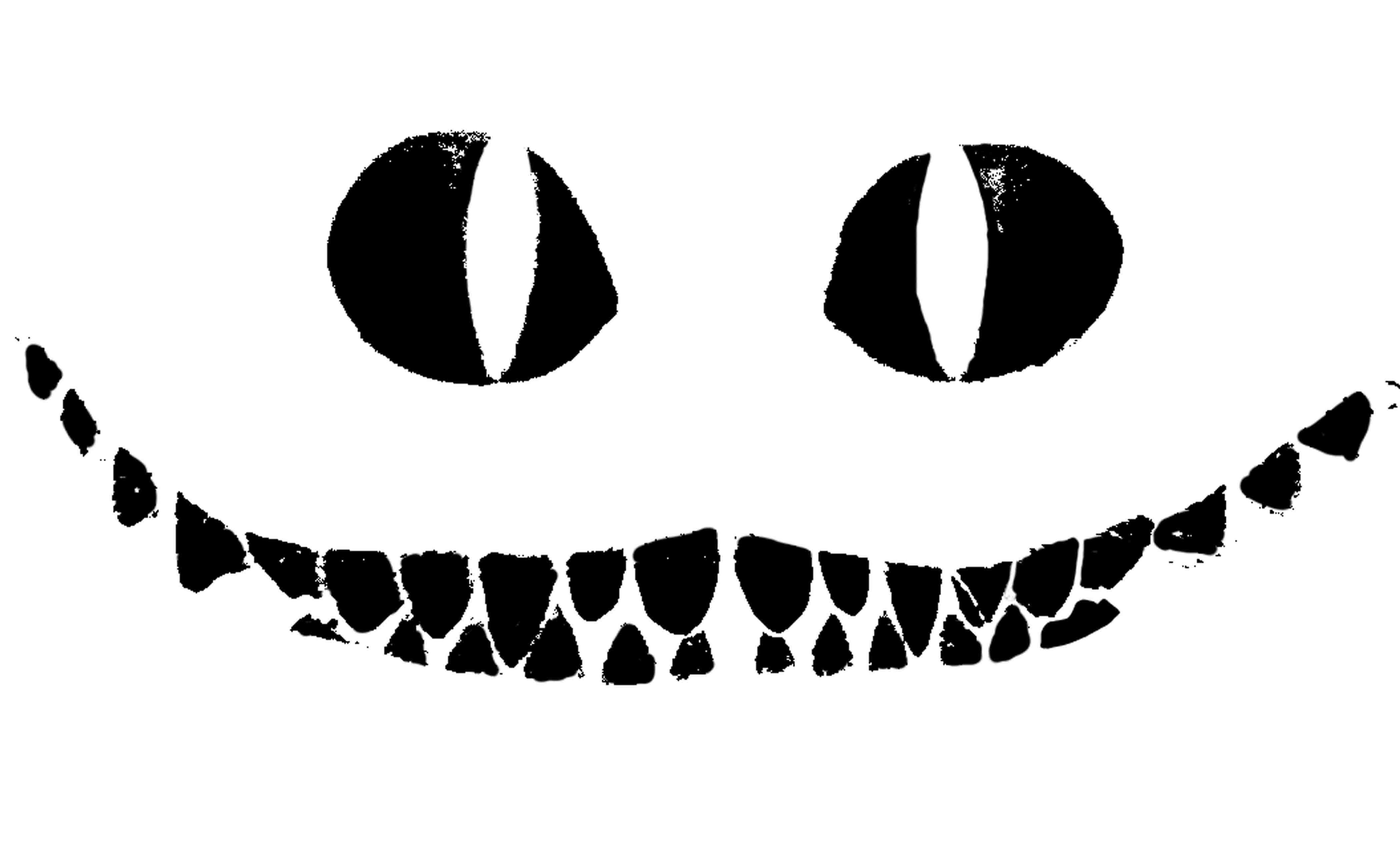 Cheshire Cat clipart pumpkin stencil #13