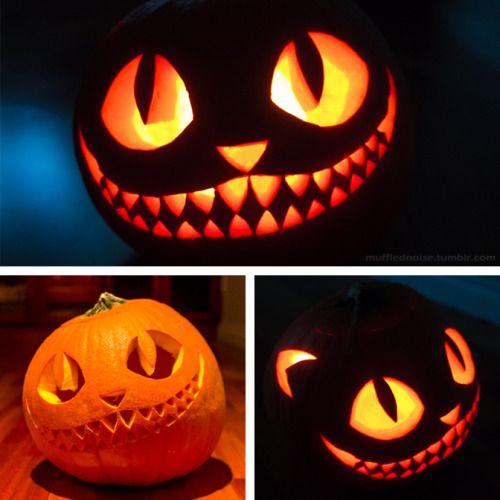 Cheshire Cat clipart pumpkin stencil #6