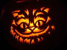 Cheshire Cat clipart pumpkin stencil #11