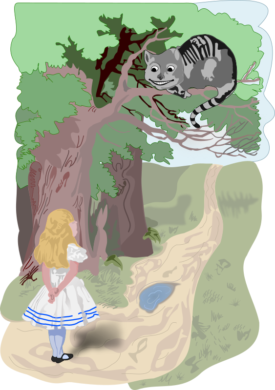Cheshire Cat clipart the tree Clipart (PNG) Cheshire MEDIUM and