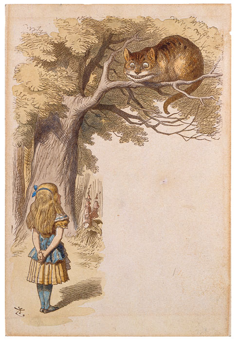 Cheshire Cat clipart the tree Tenniel John Drawings Cheshire Home