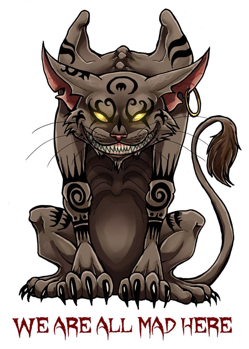 Drawn cheshire cat alice madness returns Explore cattattoo by DeviantArt on