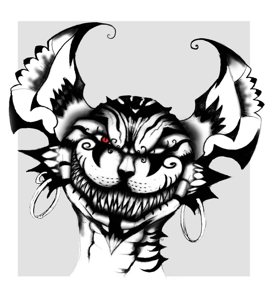 Cheshire Cat clipart tribal By Cheshire Cat Disturb963 on