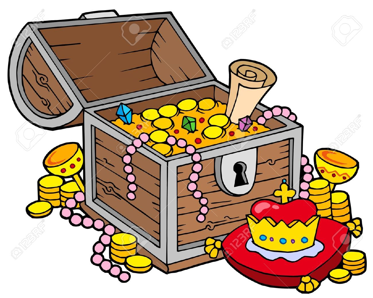 Treasure clipart Chest Cartoon free com treasure