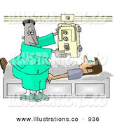 Chest clipart doctor sick patient Doctor Sick His Chest Royalty