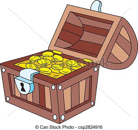 Chest clipart vector Clip Treasure Stock 4 art