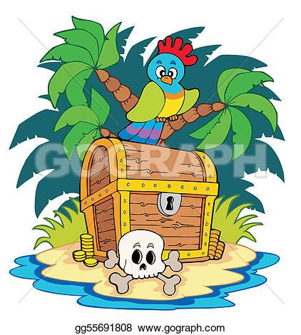 Chest clipart vector Treasure island gg55691808 Art chest