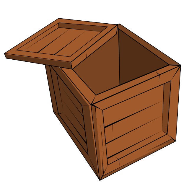 Chest clipart wood box 57 Domain Open Crate crate3