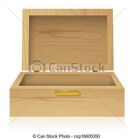 Chest clipart wood box Design wood Vector Illustrations box