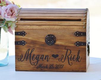 Chest clipart wood box Box Chic Card Card Wedding