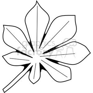Chestnut clipart black and white  Chestnut SVG Leaf image