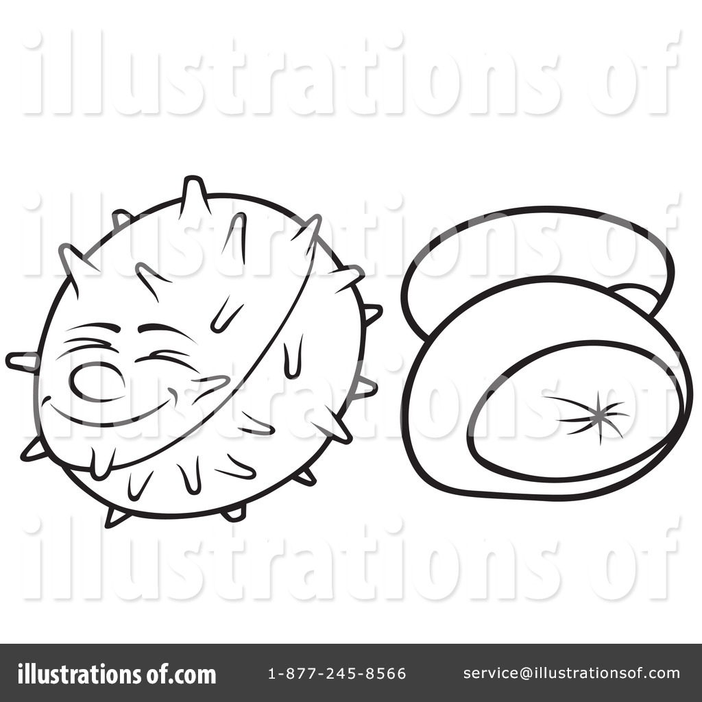 Chestnut clipart cute Clipart Clipart Illustration by dero