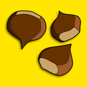 Chestunt clipart cartoon Chestnuts at Art com Chestnuts
