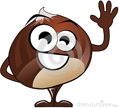 Chestunt clipart cartoon Isolated in nice a chestnut