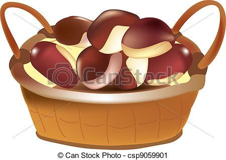 Chestnut clipart cartoon Basket chestnut Search csp9059901 basket