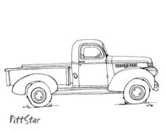 Chevrolet clipart antique truck Coloring Instant Old Truck drawing