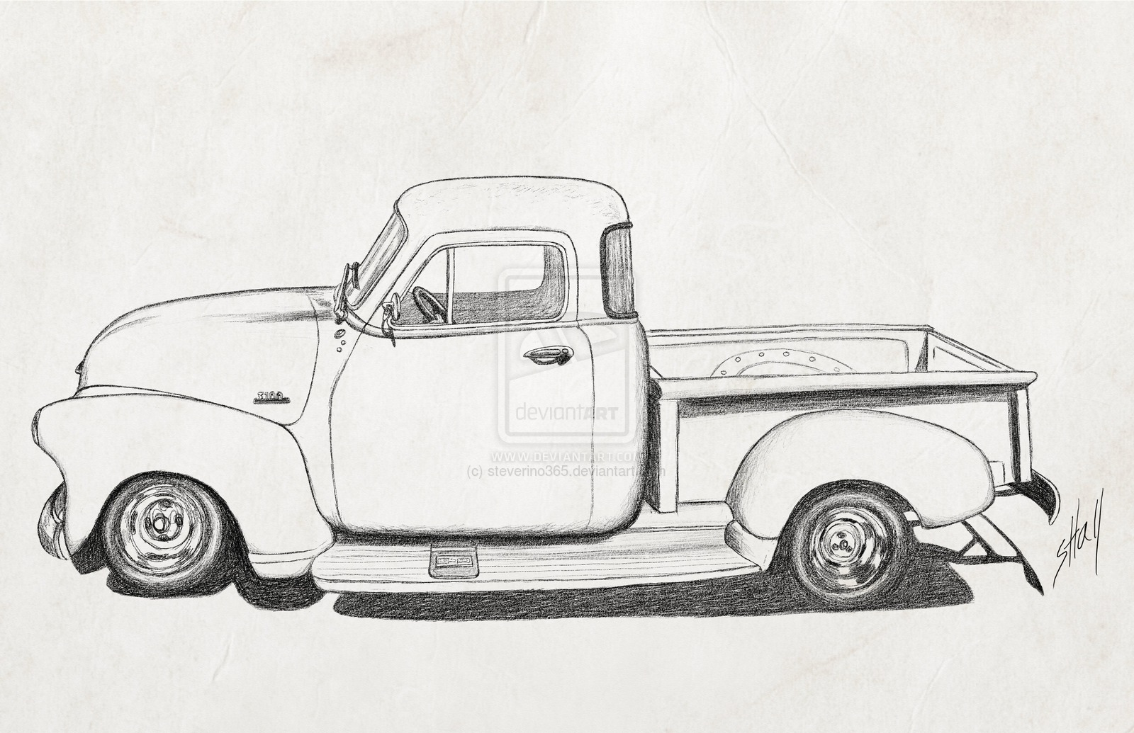 Chevrolet clipart antique truck Search cartoon Search truck