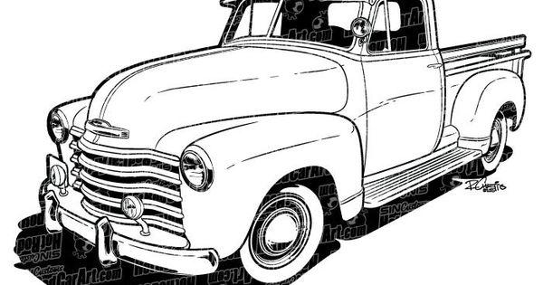 Chevrolet clipart antique truck Clip  Classic Art Cars