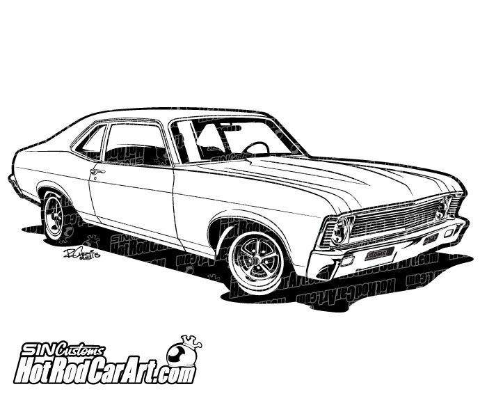 Classic Car clipart muscle car  Art 1969 Nova Muscle