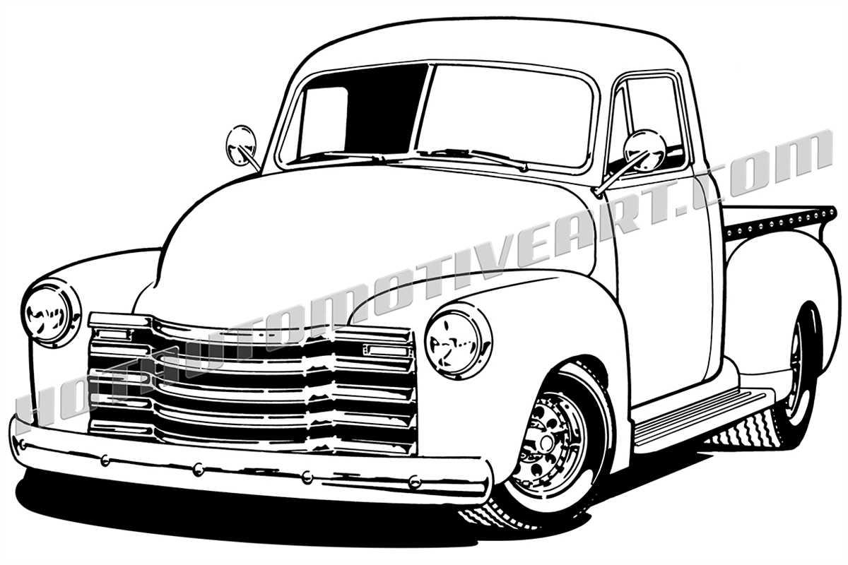 Chevrolet clipart chevy truck Side one image view truck