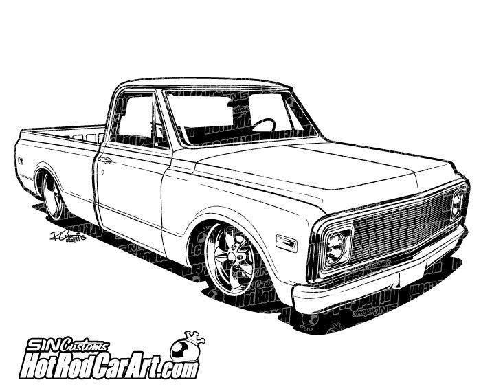 Chevrolet clipart chevy truck Clip 1970 Truck Art trucks