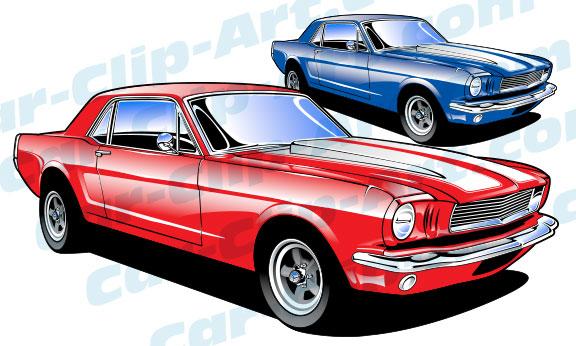 Dodge clipart supercar Mustang Vector Clip com Car