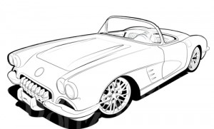 Yellow clipart corvette Black Corvette and art Free