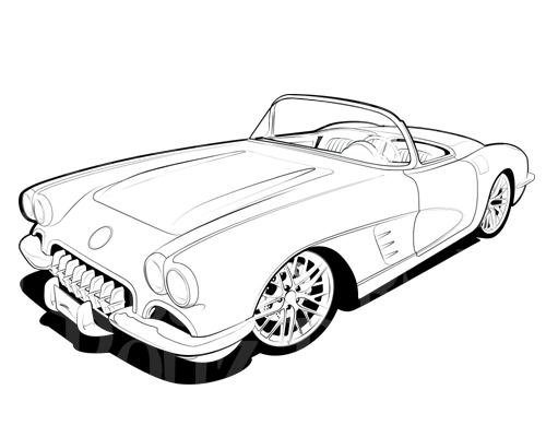 Chevrolet clipart corvette And Corvette Favorite Art Silhouette